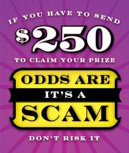 Foreign lottery scam