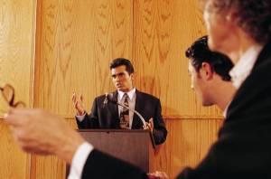 Speaker at event