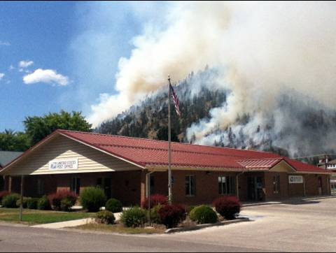 Costly fire in Montana