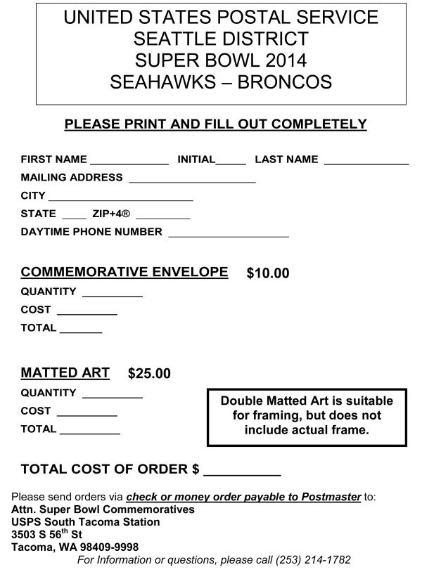 seahawks order form