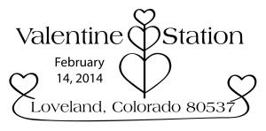 Valentine postmark 2014