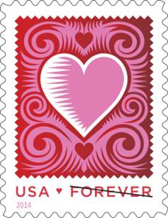 Valentines day stamp 2014
