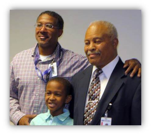 Dessie Richmond with family members.