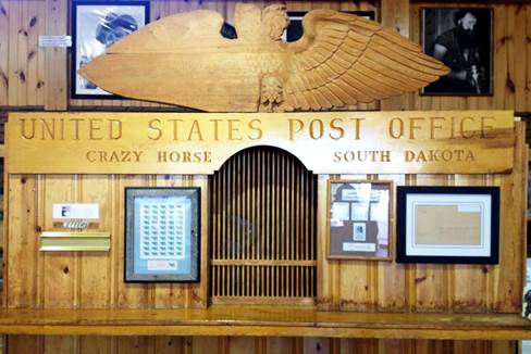 A Post Office exhibit inside a museum at Crazy Horse National Monument, SD.