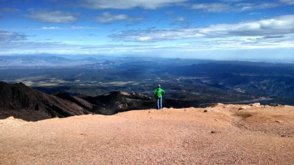 Jordan, MN, Postmaster Karen Keller on her recent trip to Pikes Peak in Colorado Springs, CO.