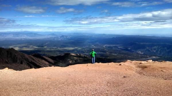 Jordan, MN, Postmaster Karen Keller on her recent trip to Pikes Peak in Colorado Springs, CO.