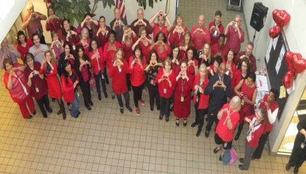 Colorado/Wyoming District employees show their support of National Wear Red Day.