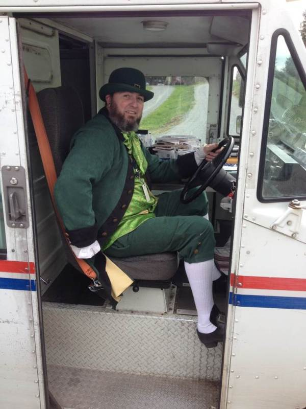 Delivering mail with flair