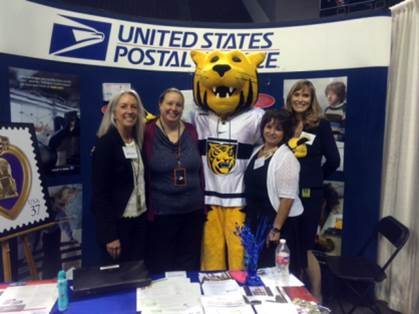 Colorado Springs Customer Relations Coordinator Linda Neil, Retail Manager Doreen Husner, Fountain Postmaster Yvette Trujillo, and Colorado Springs Administrative Assistant Erica Moss.