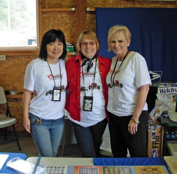 Retail Associate Yukiko Hightower, Postmaster Barbara Henry, and Retail Associate Melodie Valley-Wanke.