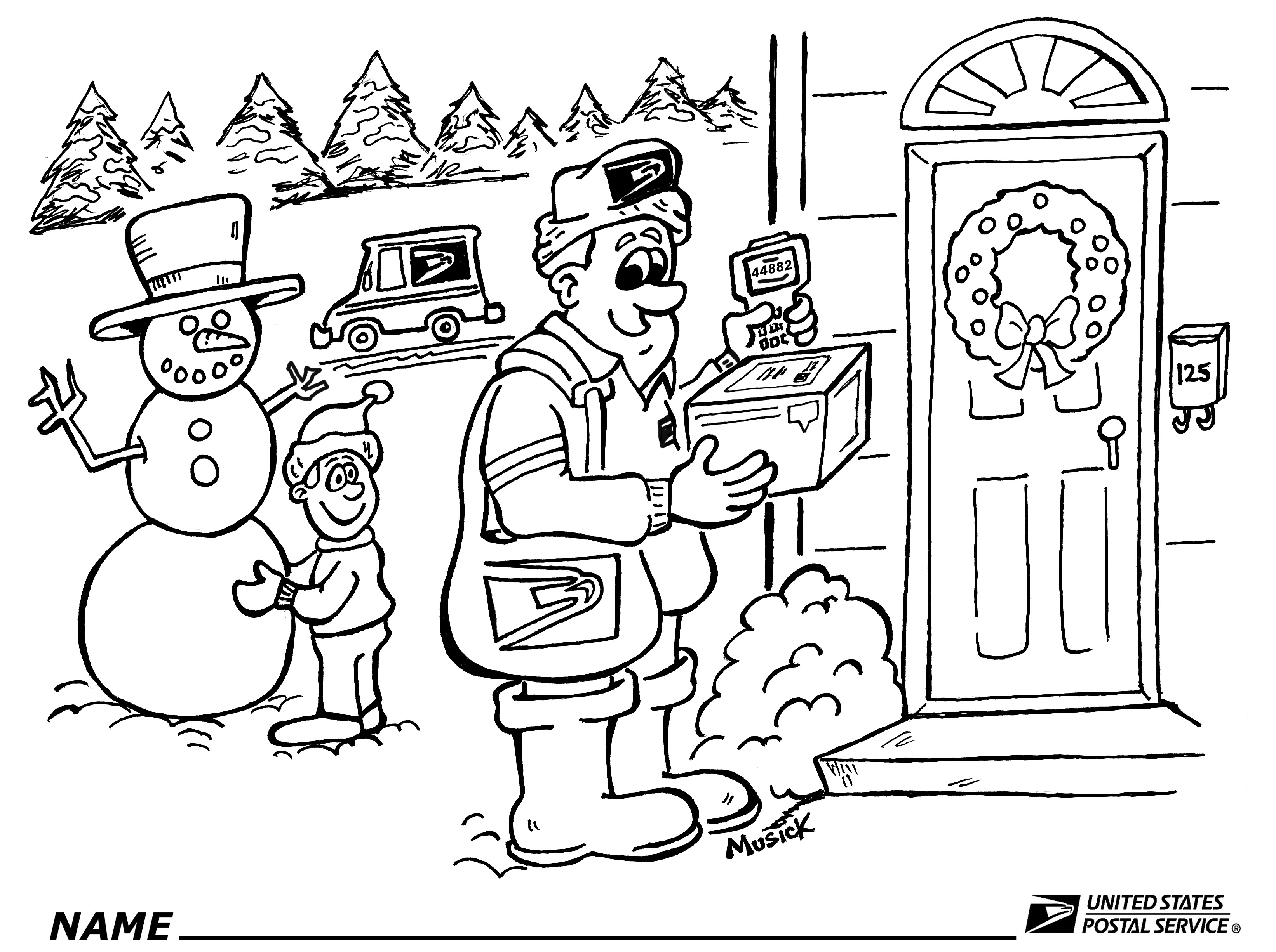 postal coloring pages - photo#3