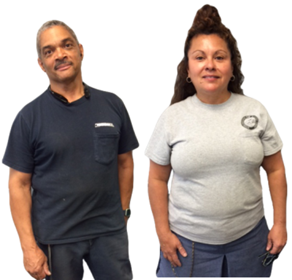 Colorado Springs, CO, Cheyenne Mountain Station Custodian George Renault and City Carrier Virginia Ortiz.